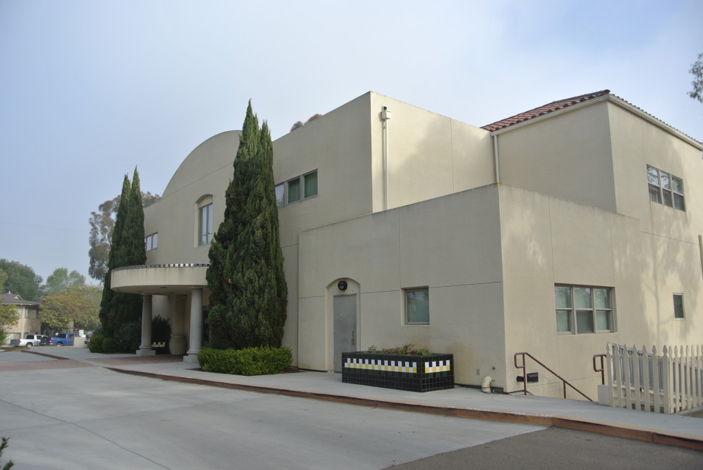 This picture shows the current building, with a main floor, top floor, and basement. The building still houses the Lions Optometric Vision Clinic along with a variety of programs run by the Blind Community Center of San Diego.